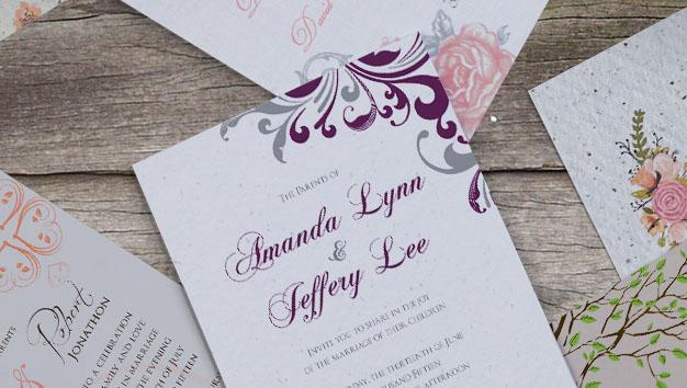 wedding samples we've printed