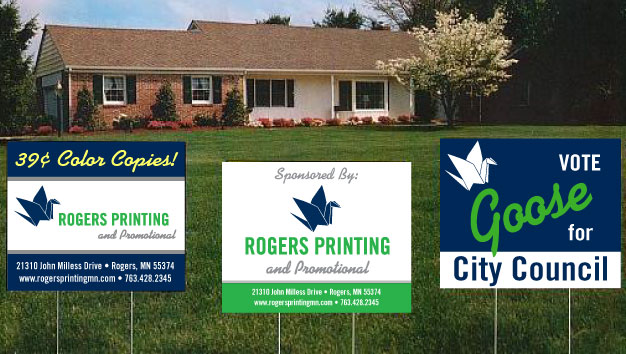 promotional yard signs