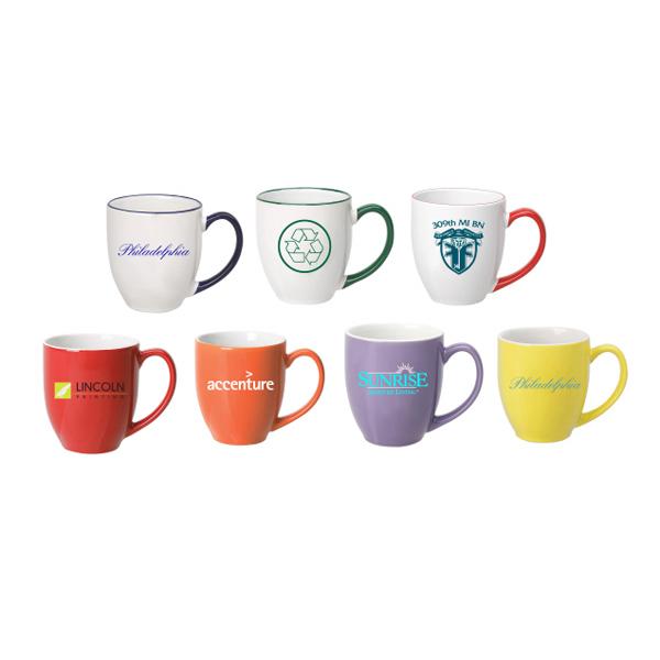 Ceramic Mug with Color Handle