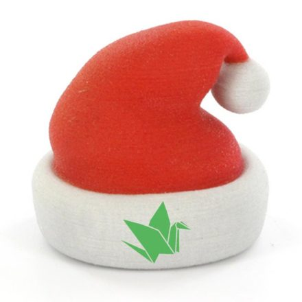 santa hat with rogers printing bird on cuff