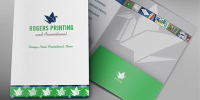 Rogers Printing promotional folder